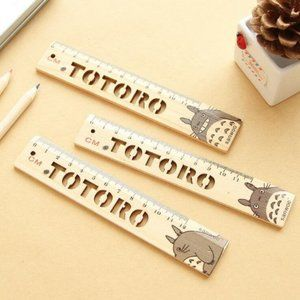 Totoro Hollow style Wooden Ruler